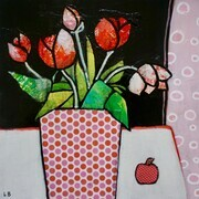 Mini Study Tulips and polka dots